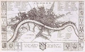 Stuart London - Richard Blome's map of London (1673). The development of the West End had recently begun to accelerate.