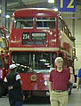 London Transport Routemaster prototype FRM1 (KGY 4D), LT Museum Acton depot open weekend, July 2001.jpg