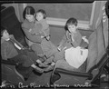 Lone Pine, California. Mother and child evacuees of Japanese ancestry on this train en route to the . . . - NARA - 536224.tif