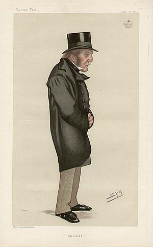 "John Tollemache, 1st Baron Tollemache - ""Cheshire"" Lord Tollemache as caricatured by Spy (Leslie Ward) in Vanity Fair, April 1881"