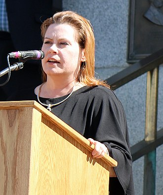 Lori Saine - Saine addressing an audience in 2017.