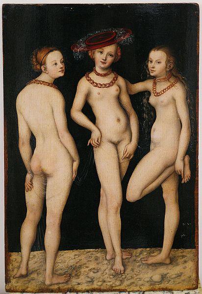 File:Louvre Cranach three graces 1531.jpg