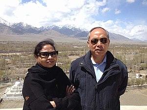 Konsam Himalay Singh - Image: Lt. Gen Konsam Himalay Singh & wife