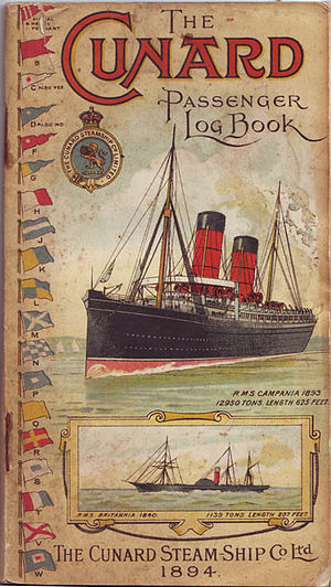 RMS Campania - Handbook issued to passengers on Campania