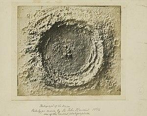 John Herschel - Calotype (of model) of lunar crater Copernicus, 1842