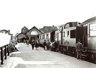 Hareskovbanen - Lygten Station, the original terminus in Copenhagen