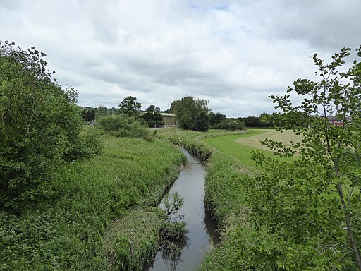 Lyme Brook from the A500 (geograph 5002718)