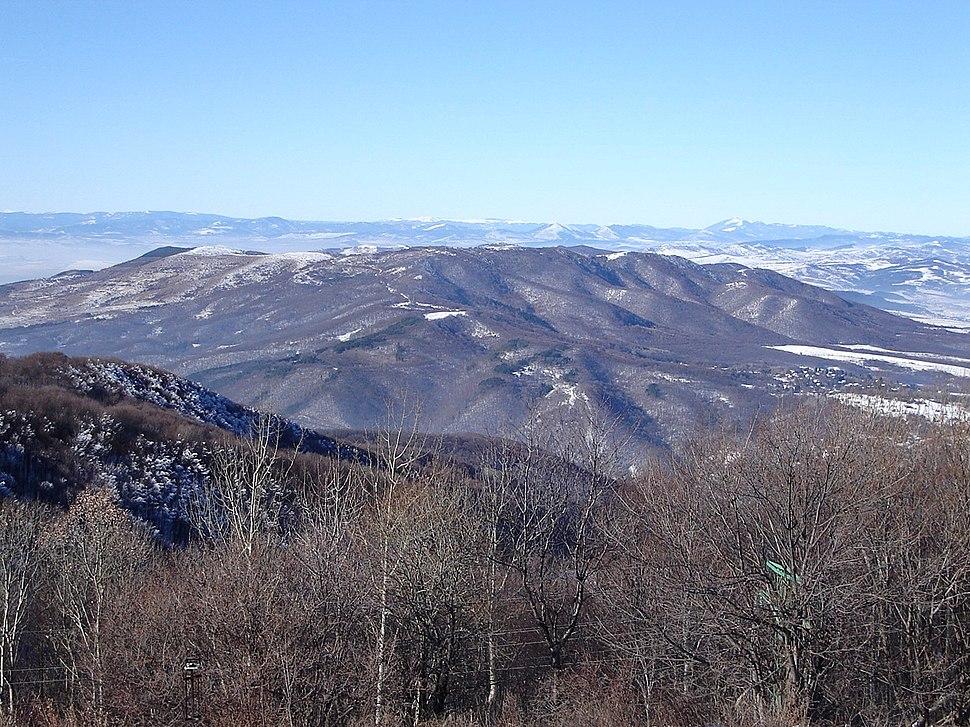 Изглед от планината Люлин