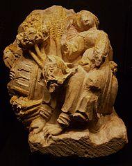 Mènsula amb escena de Filis cavalcant a Aristòtil