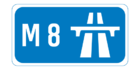 M8 motorway shield}}