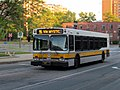 MBTA route 95 bus on City Hall Mall in Medford Square, June 2015.JPG