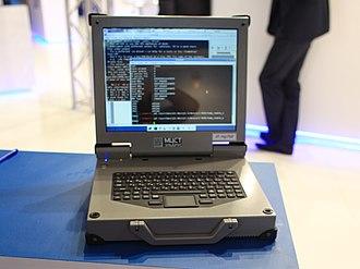 MCST - MCST Elbrus HT-R1000 laptop at 2013 MAKS Airshow
