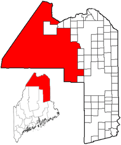 Location of Northwest Aroostook, Maine