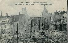 Le centre-ville en ruine, en 1917