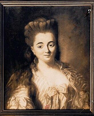 Marie-Madeleine Guimard - Portrait of Madeleine Guimard (Paris, BNF)