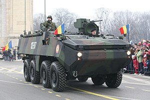 MOWAG Piranha IIIC Military Parade on December the 1st 2009.jpg