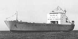 אוניית הגלנוע א/מ יסמין של חברת צים שגויסה והשתתפה בהנחתה במלחמת לבנון.
