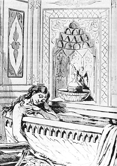 Artist's rendition of the suicide of abortionist Ann Lohman (a.k.a. Madame Restell). From Recollections of a New York Chief of Police by George P. Walling. Scanned from The Wickedest Woman in New York: Madame Restell, the Abortionist by Clifford B