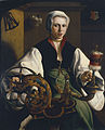 Maerten van Heemskerck - Portrait of a Lady spinning (Museo Thyssen-Bornemisza).jpg