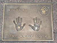Maggie Smith handprints in Leicester Square WC2 - geograph.org.uk - 1352179.jpg