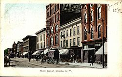 Oneida Main Street in a 1907 postcard