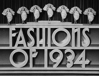 Fashions of 1934 - Main title from the original trailer.
