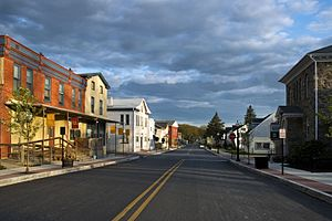 Atglen, Pennsylvania - Image: Main Street Atglen