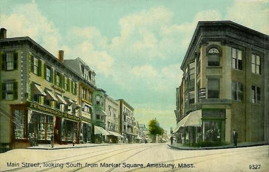 Main Street from Market Square, Amesbury, MA