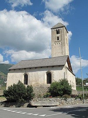 St. Benedikt (Mals) - Image: Mals, die Sankt Benedikt Kirche Dm 15779 foto 1 2012 08 13 10.44