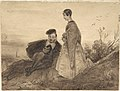 Man and Woman in a Landscape, possibly Faust and Marguerite MET DP800806.jpg