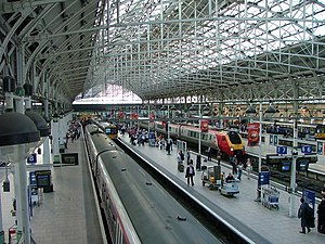 Manchester Piccadilly railway station from the footbridge.jpg