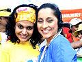 Mandira Bedi and Anousha Dandekar at Mumbai Marathon 2007 (6).jpg