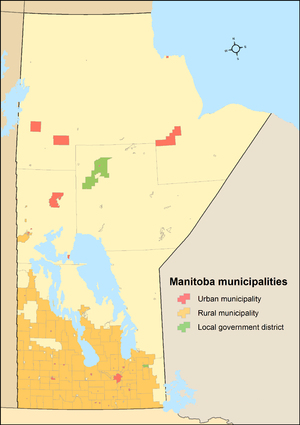 Manitoba municipal amalgamations, 2015 - After amalgamations: 137 municipalities