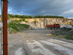 Mannersdorf am Leithagebirge - The limestone quarry in the hills just south of Mannersdorf.