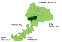 Location of Echizen in  Fukui Prefecture