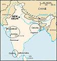 Map India jews communities fr.jpg