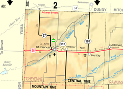 KDOT map of Cheyenne County (legend)