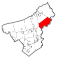 Map of Lower Mount Bethel Township, Northampton County, Pennsylvania Highlighted.png