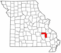 Map of Missouri highlighting Iron County.png