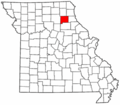 Map of Missouri highlighting Shelby County.png