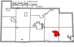 Location of Clyde in Sandusky County