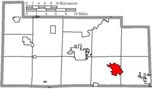 Clyde, Ohio - Image: Map of Sandusky County Ohio Highlighting Clyde City