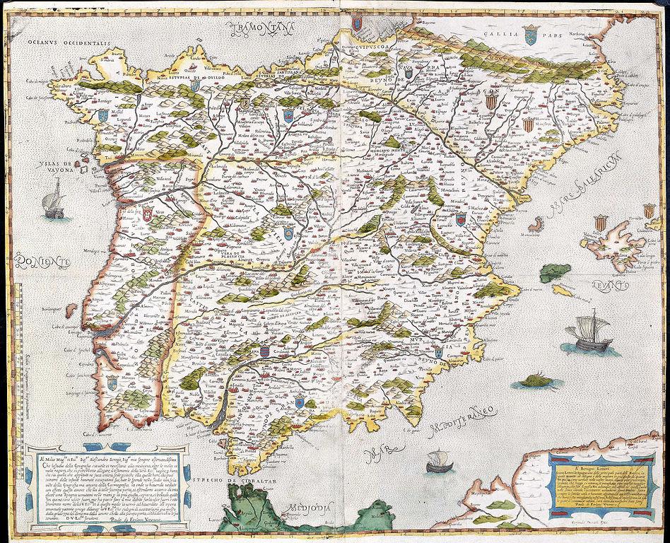 Www Mapa De Espana.File Mapa De Espana Y Portugal Forlani De Veronese Jpg Wikimedia Commons