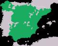 Mapa de distribución del sapo corredor (Epidalea calamita) en España.png