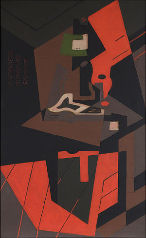María Blanchard - María Blanchard, 1916-18, Still Life with Red Lamp, oil on canvas, 115.6 × 73 cm