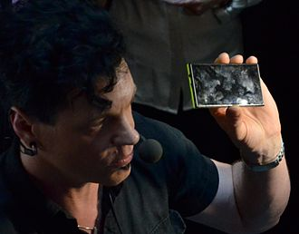 Jolla - Image: Marc Dillon with Jolla's phone cropped
