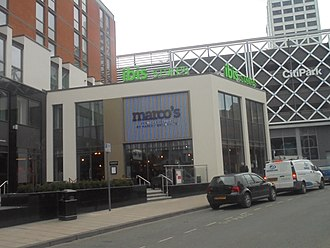 Marco Pierre White - 'Marco's'; a restaurant at the Merrion Centre, Leeds.