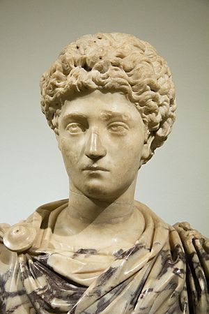 Early life and career of Marcus Aurelius - Portrait of the young Marcus Aurelius on a modern bust, marble, 150–200 AD; NG Prague, Kinský Palace.
