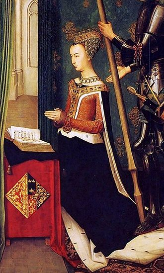 Margaret of Denmark, Queen of Scotland - Portrait by Hugo van der Goes