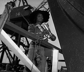 Marian Anderson - Anderson christens Liberty ship SS Booker T. Washington, 1942